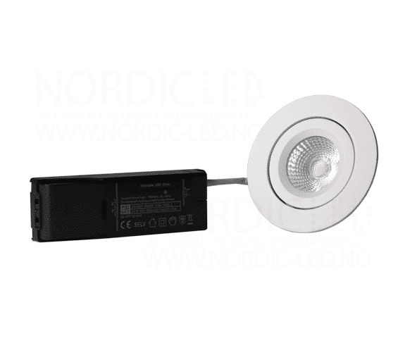 np eco led downlight 8w ip44 matt hvit nordic led. Black Bedroom Furniture Sets. Home Design Ideas