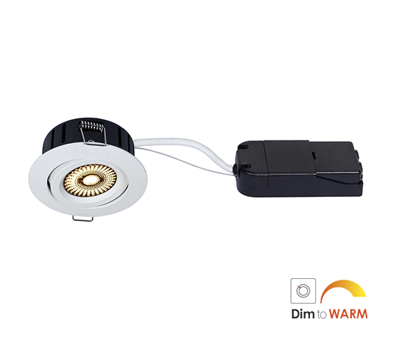 NP Ultraslim LED Downlight Warmdim 5W Isolasjon Matt Hvit Nordic Products