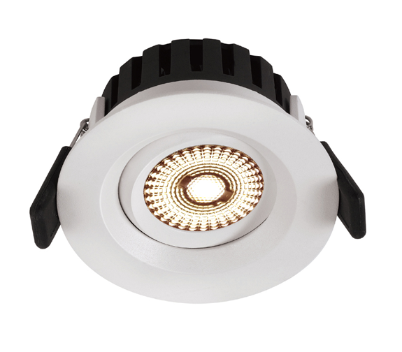 NP Universal LED Downlight 360 Tilt 8W IP44 Matt Hvit Nordic Products