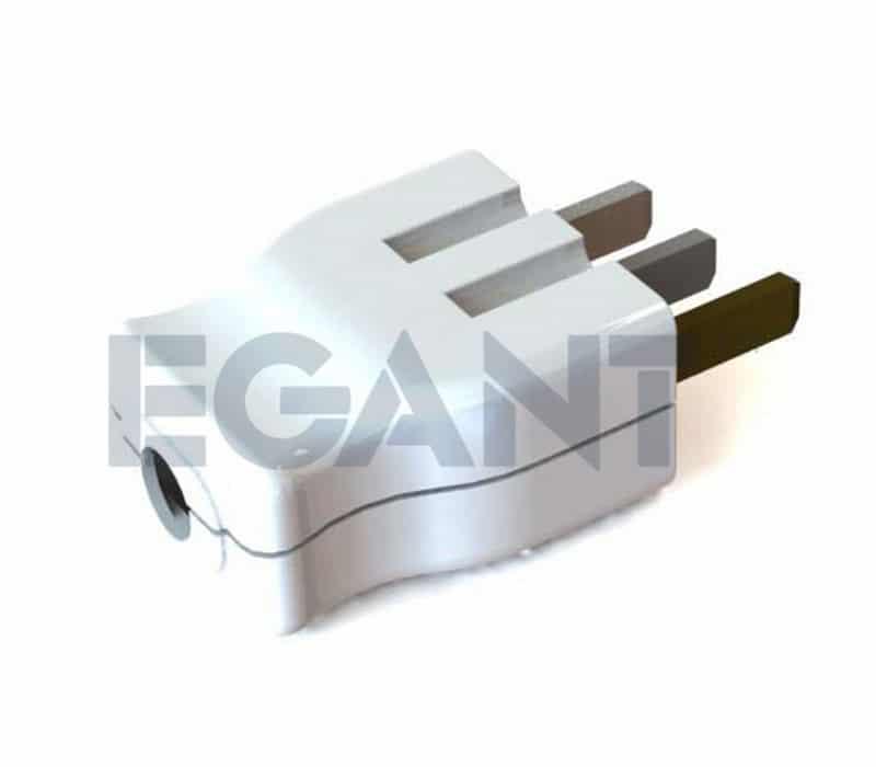 Egant Komfyrstøpsel 2x25A+J Flatstift/Komfyr Etman