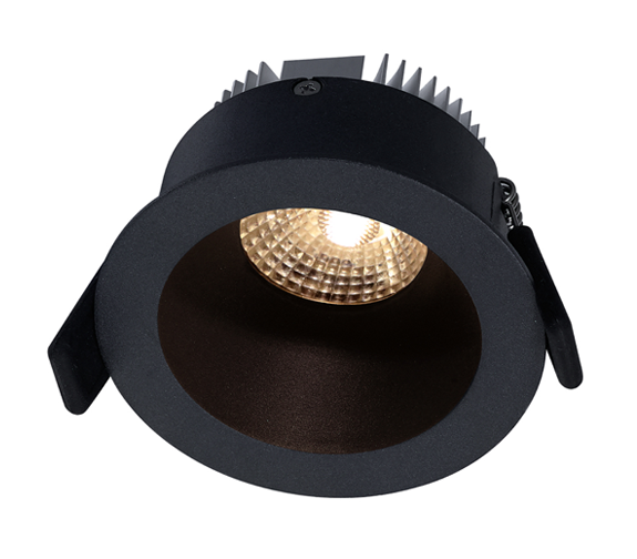 NP Helo LED Downlight 8W Matt Sort IP44 Nordic Products