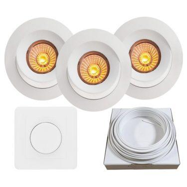 downlightpakke lux led nordic led downlight