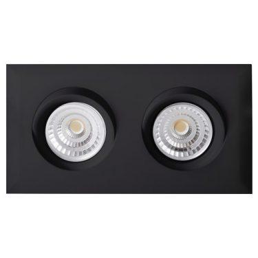 Dobbel LED Downlight Isolasjon WarmDim Tilt sort