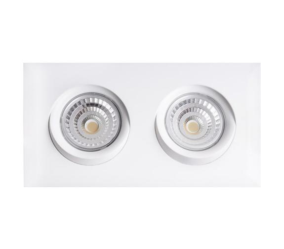 Dobbel LED Downlight Isolasjon WarmDim Tilt
