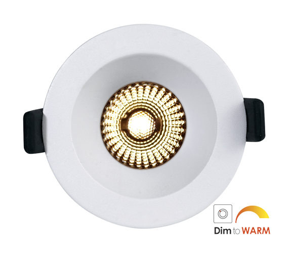 NP Helo LED Downlight 8W WarmDim Matt Hvit IP44 Nordic Products