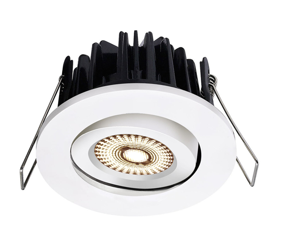 NP ECO LED Downlight 8W RA97 IP44 Matt Hvit Nordic Products