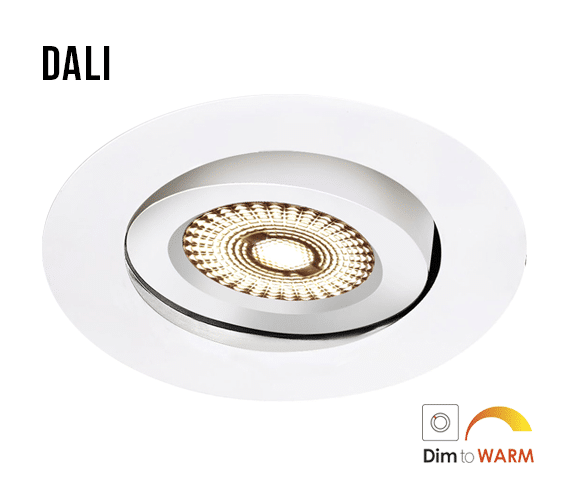 Downlight DALI Eco WarmDim 8W IP44 Matt Hvit