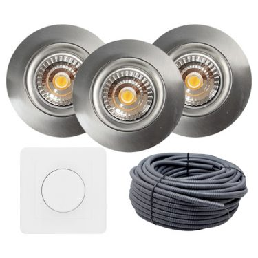 led downlight isolasjon optimal borstet stal nordic led