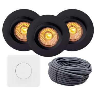 sort led downlight isolasjon optimal nordic led