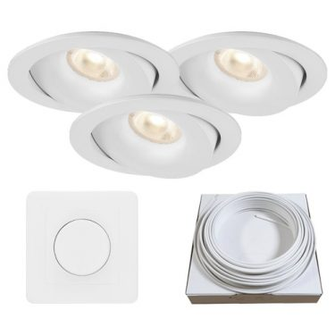 downlight luna led nordic hvit
