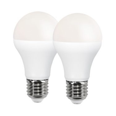 LED LAMP E27 2 PACK OPAQUE BASIC
