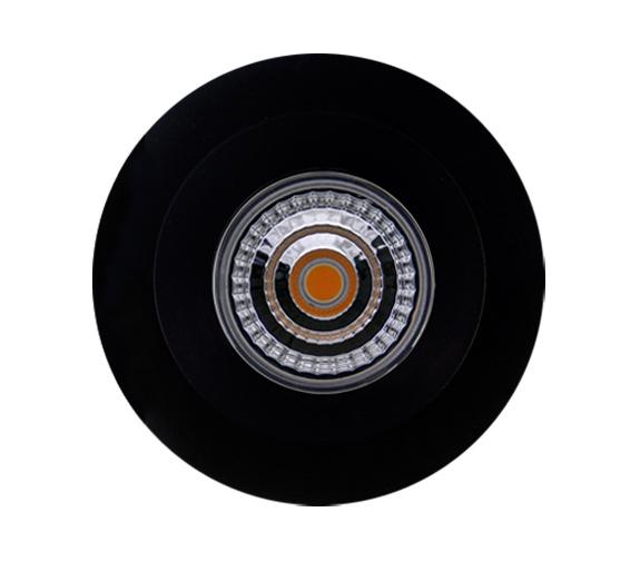 led downlight 9w ip44 matt sort varmhvit