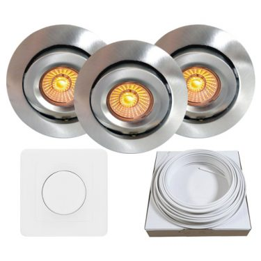 downlight eco led nordic borstet stal