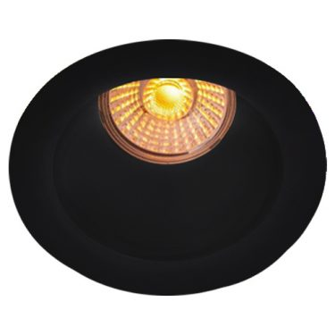 NP Helo LED Downlight 8W WarmDim Matt Sort IP44