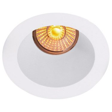 NP Helo LED Downlight 8W WarmDim Matt Hvit IP44