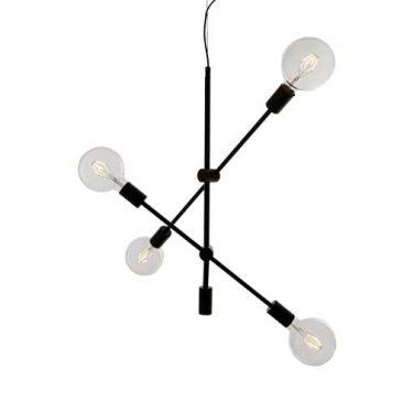 Bronx Taklampe 4-Lys Sort