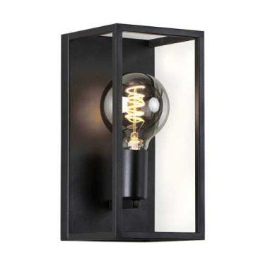Dino Vegglampe E27 Sort