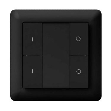 Heatit Z-Push Button 4 Black