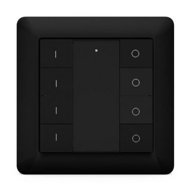 Heatit Z-Push Button 8 Black