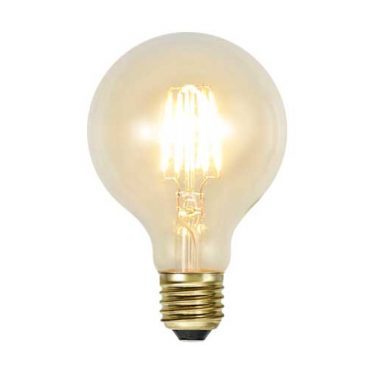 Decoration Globe 80mm Soft Glow E27 1,3W 2100K 140lm Dimbar