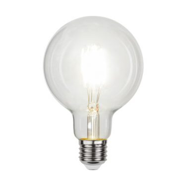 Illumination Globe 95mm Klar Filament E27 4W 4000K 470lm Dimbar