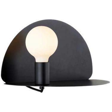Lima Vegglampe med USB Sort