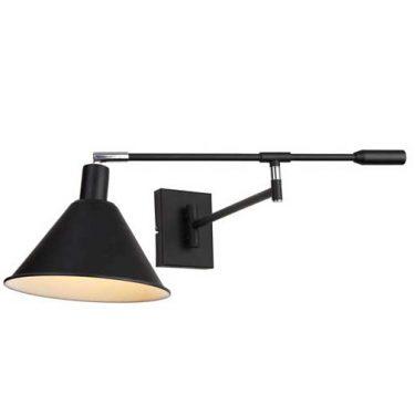Tripoli Vegglampe Sort