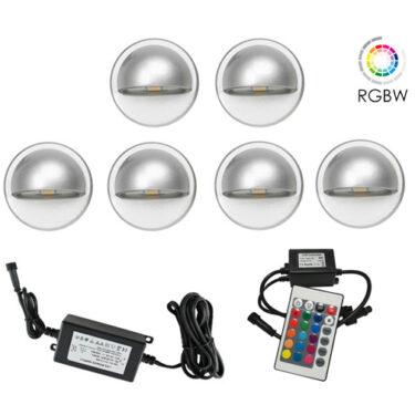 NP Trappebelysning LED 6 X 0,4W RGBW IP65 Grå
