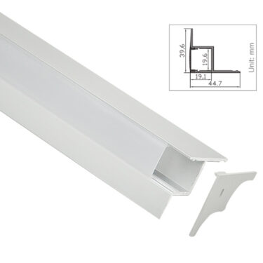 Aluprofil for veggmontering for LED strips opptil 19MM