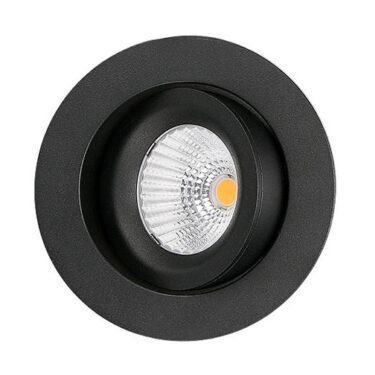 LED Downlight 3000K 9W 360 Tilt Matt Sort