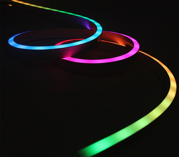 led strips neon rgb side view