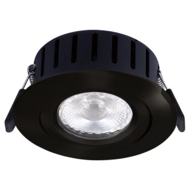 NP Ultraslim LED Downlight Warmdim 5W Isolasjon 6 Matt sort