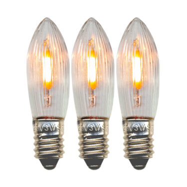 Res.pære Universal LED E10 23-55V 0,2W 5,5lm 2100K klar 3-pk
