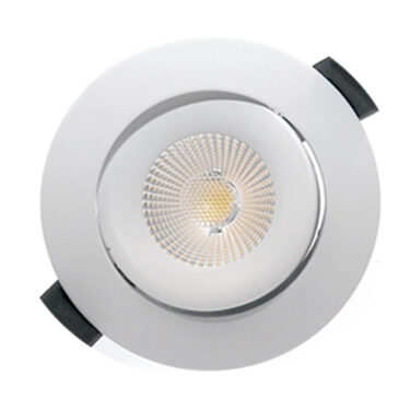 NP Leon LED Downlight 10W WarmDim Matt Sort IP44