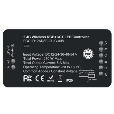 RF 2.4G Zigbee PRO RGB+CCT LED Mottakere