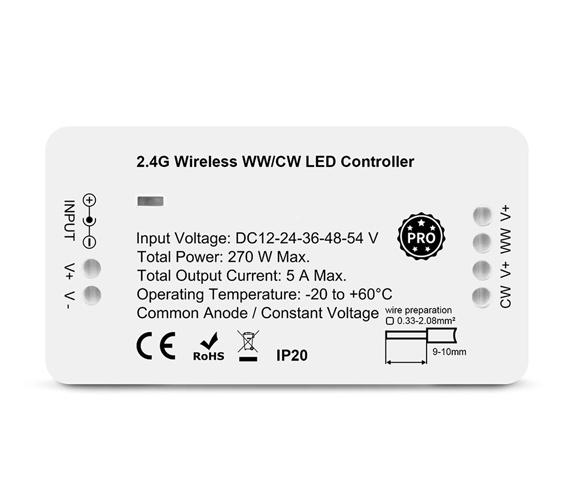 RF 2.4G Zigbee PRO WW/CW LED Mottakere