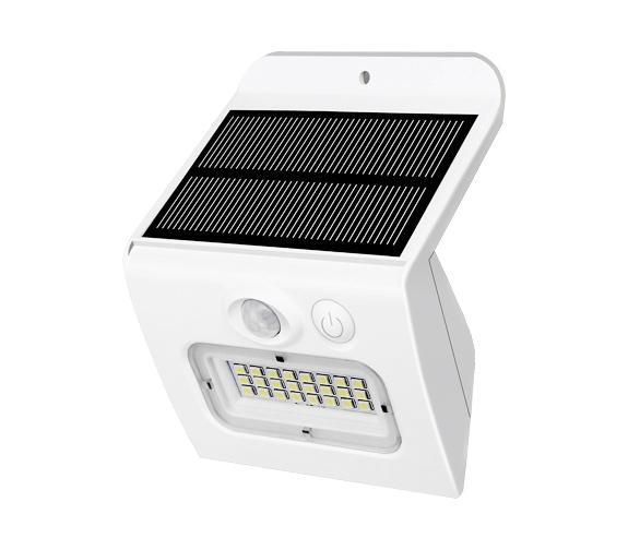 LED Solar m/Sensor 3000K IP65 PÅ/AV Hvit